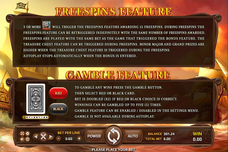BLACKBEARD LEGACY FREESPIN FEATURE