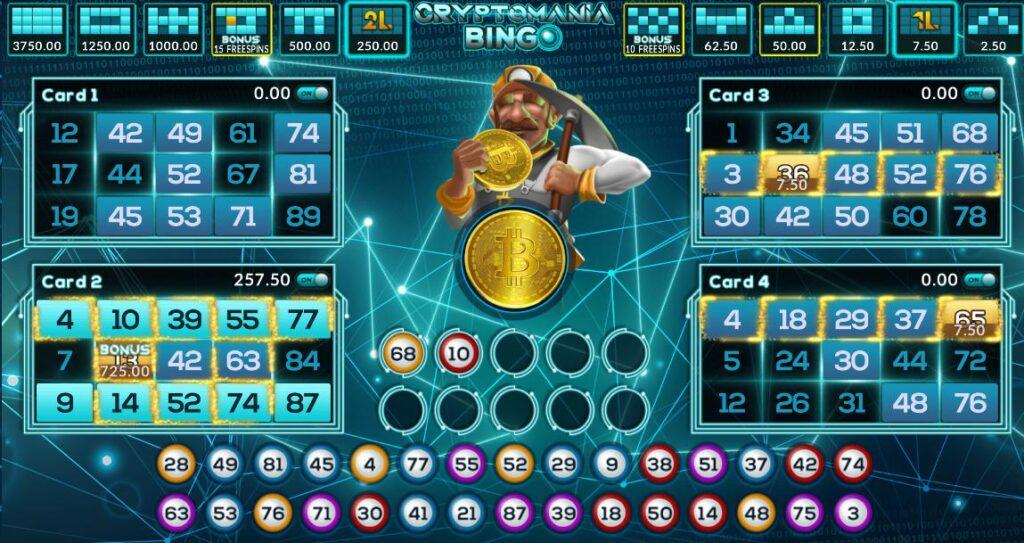 joker gaming Cryptomania bingo slot 2