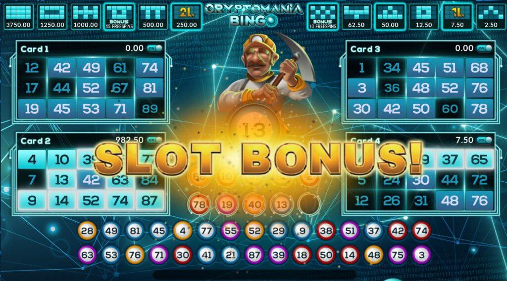 joker gaming Cryptomania bingo slot