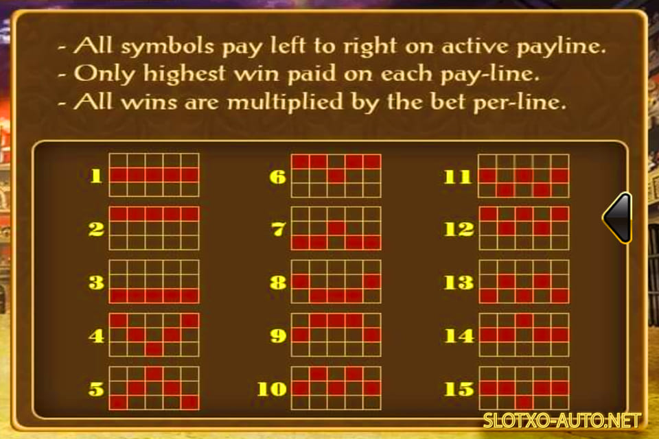 roma slot paly lines