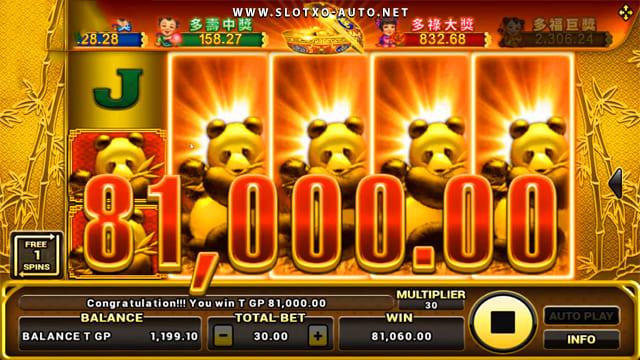 slotxo lucky panda slot big jackpot mega win formula