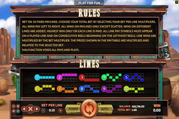 รีวิวเกมสล็อต Bounty Hunter rules