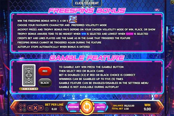 รีวิวเกมสล็อต Cyber Race Game