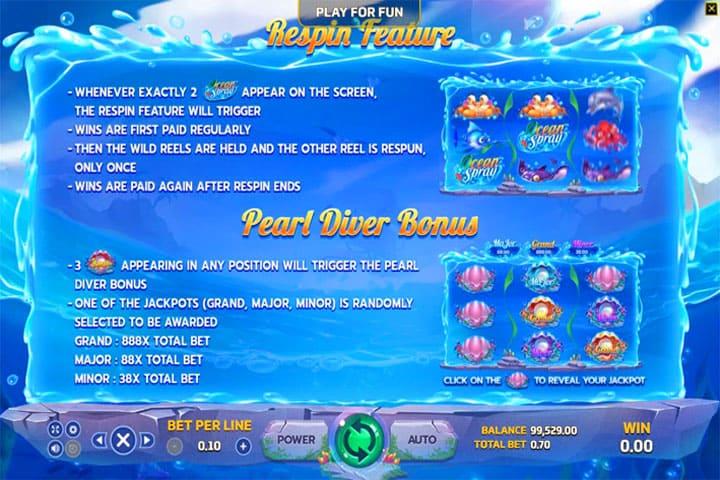 รีวิวเกมสล็อต Ocean Spray slot